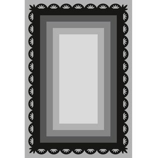 Marianne Design Punching and embossing template Craftables, 6 frame rectangles