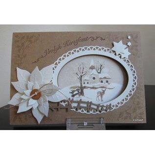 Marianne Design Stanz- und Prägeschablone, Craftables, 6 Rahmen Ovale