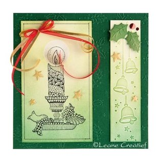 Leane Creatief - Lea'bilities Clear Stamps, candle with candlestick