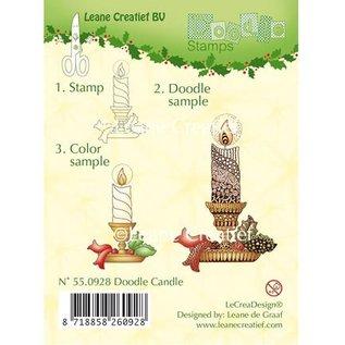 Leane Creatief - Lea'bilities Transparente Stempel, Kerze mit Kerzenhalter