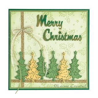 Leane Creatief - Lea'bilities Transparente Stempel, Weihnachtsbäume