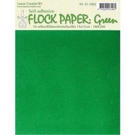 BASTELZUBEHÖR, WERKZEUG UND AUFBEWAHRUNG Selv Flock papir, grønn