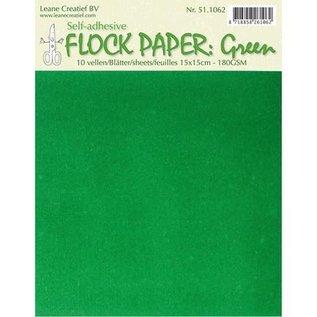 BASTELZUBEHÖR, WERKZEUG UND AUFBEWAHRUNG Selbstklebendes Flock Papier, grün