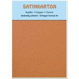 DESIGNER BLÖCKE / DESIGNER PAPER 10 folhas, papelão metálico Set A4, acabamento acetinado metálico em ambos os lados, 250gr. / Metro quadrado, cobre