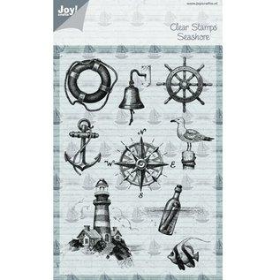 Joy!Crafts / Hobby Solutions Dies Transparante stempel op en op zee