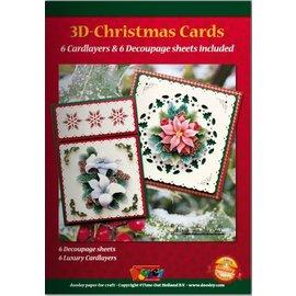 KARTEN und Zubehör / Cards A5 Bastelbuch para 6 de Natal 3D + 6 cartões Cartão de Layouts