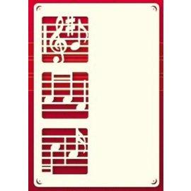 KARTEN und Zubehör / Cards Um conjunto de camada de cartão 3 de luxo A6, com notas da música