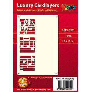 KARTEN und Zubehör / Cards Un ensemble de couches de carte 3 luxe A6, avec des notes de musique