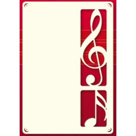 KARTEN und Zubehör / Cards Un ensemble de couches de carte 3 luxe A6, avec clef
