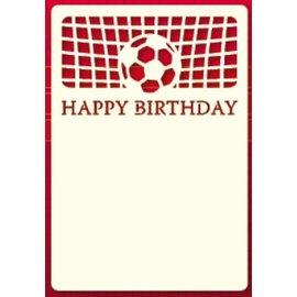 KARTEN und Zubehör / Cards Um conjunto de três luxo A6 camada de cartão, tema: Footbal
