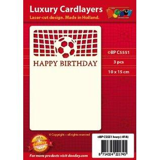 KARTEN und Zubehör / Cards A set of 3 Luxury card layer A6, theme: Footbal