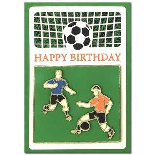 KARTEN und Zubehör / Cards Un ensemble de couches de carte 3 luxe A6, thème: Footbal