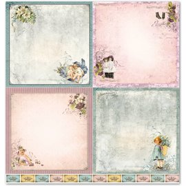 "Designer Papier Scrapbooking: 30,5 x 30,5 cm Papier Papel Design ""Criança 1"""