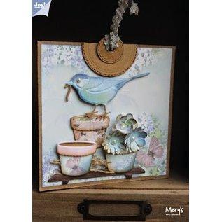 Joy!Crafts / Hobby Solutions Dies Joy Crafts, ponsen - en embossingmal Liefde van de lente, bloempotten