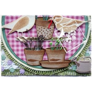 Joy!Crafts / Jeanine´s Art, Hobby Solutions Dies /  Joy Crafts, coups de poing - et le modèle de gaufrage Spring Love, pots de fleurs