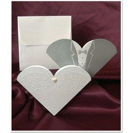 BASTELSETS / CRAFT KITS NEU: Exclusive Hochzeitskarten Braut und Bräutigam