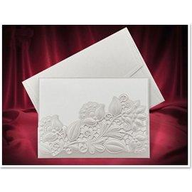 KARTEN und Zubehör / Cards Exclusive Einsteckkarten Blumen weiss