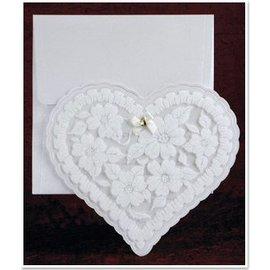 BASTELSETS / CRAFT KITS NOVO: Exclusivo coração cartões Edele com papel alumínio e brilho