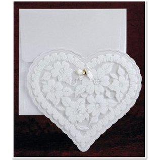 BASTELSETS / CRAFT KITS Esclusiva cuore carte Edele con un foglio e glitter
