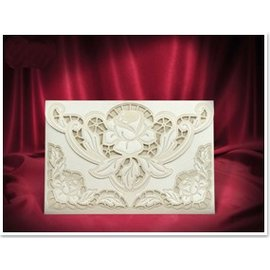 BASTELSETS / CRAFT KITS NOVO: Exclusive Edele rosas envelope creme cartões