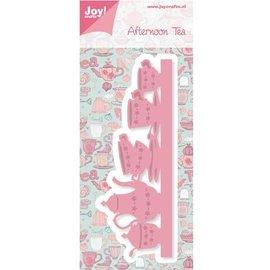Joy!Crafts / Hobby Solutions Dies Joy Crafts, coups de poing - et bordure de modèle gaufrage avec service de café