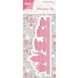 Joy!Crafts / Hobby Solutions Dies Joy Crafts, punching and pre - template, border with coffee service