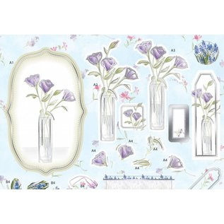 BILDER / PICTURES: Studio Light, Staf Wesenbeek, Willem Haenraets Luxury A4 3D die cut sheet with silver foil, Lavender