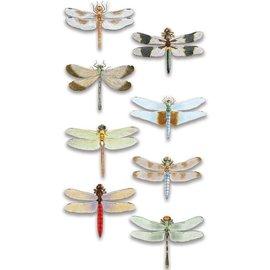 Embellishments / Verzierungen Luxus 3D Aufkleber Libelle, dimensional
