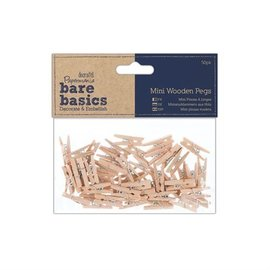 Embellishments / Verzierungen Miniaturklammern Aus Holz (50Stk)