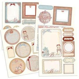 Prima Marketing und Petaloo Prima Marketing, spånplader klistermærker med glitter Efekt