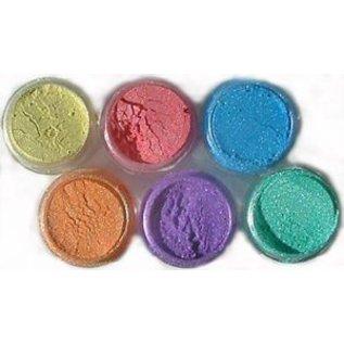 SET Cosmic Shimmer, 6 farver + sprayflaske børste +