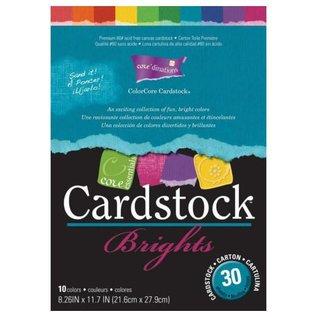 DESIGNER BLÖCKE / DESIGNER PAPER ColorCore karton, A4, 30 ark, Brights