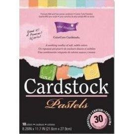 Stempel / Stamp: Transparent ColorCore karton, A4, 30 ark, Pastels