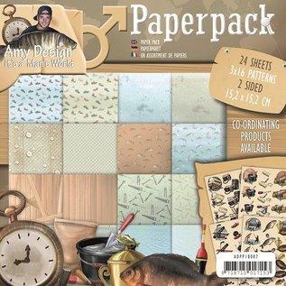 AMY DESIGN Papir Pakke med design Amy, mandeverden