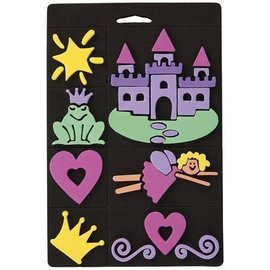 Kinder Bastelsets / Kids Craft Kits Foam rubber stamp set, princess, for children