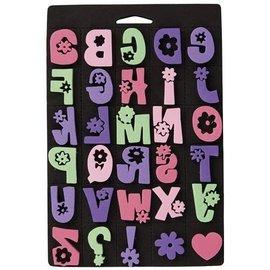 Kinder Bastelsets / Kids Craft Kits Skumgummi stempel sæt, Daisy alfabet for børn