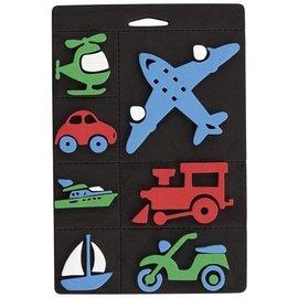 Kinder Bastelsets / Kids Craft Kits Timbro di gomma Schiuma, trasporti, treno e aereo per i bambini