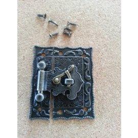 Embellishments / Verzierungen Nostalgic Scrapbook clasp, 1 piece, 5 x 4,3cm