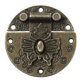 Embellishments / Verzierungen Antikes Scrapbook Schloss, 1 Stück, 4 cm