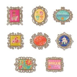 Embellishments / Verzierungen Sizzix, metalen versieringen 8 frames