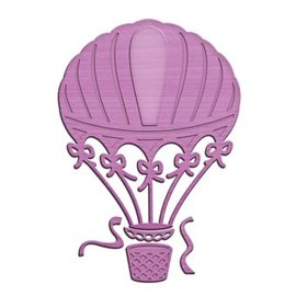 Spellbinders und Rayher Spellbinders, presning og Embossing Stencil Up and Away Balloon