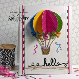 Spellbinders und Rayher Spellbinders, presning og Embossing Stencil Up and Away Balloon