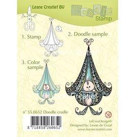 Leane Creatief - Lea'bilities und By Lene Transparent Stempel, Leane Creativ, Baby in der Wiege