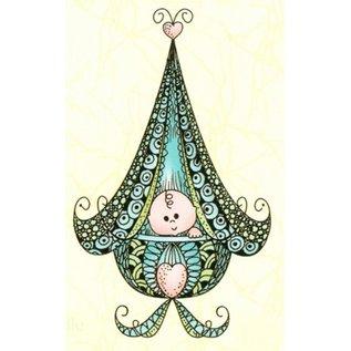 Leane Creatief - Lea'bilities Transparent Stempel, Leane Creativ,  Baby in der Wiege