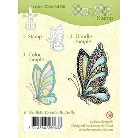 Leane Creatief - Lea'bilities Timbri trasparenti, Leane creativo, farfalla