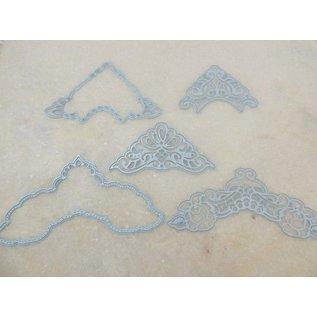Marianne Design Coupe et gaufrage pochoirs, LR0281, Creatables, coins de Petra