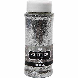 BASTELZUBEHÖR, WERKZEUG UND AUFBEWAHRUNG große glitter Streudose von 110gr, silber, gold oder weiß