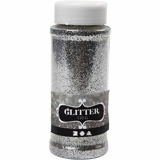 BASTELZUBEHÖR, WERKZEUG UND AUFBEWAHRUNG large glitter straw box of 110gr, silver
