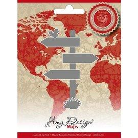 AMY DESIGN Stanz- und Prägeschablonen, Amy Design Maps, Wegweiser