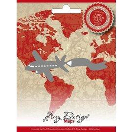 AMY DESIGN Taglio e goffratura stencil, Amy Maps design, aerei